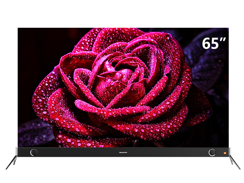 "A beautiful rose on a 65"" TV"